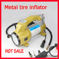Tire Inflator  car air pump Metal  cylinder air compressor pump Power FAST protable