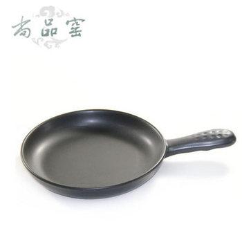 Kiln ceramic pot ceramic flat bottom pot wok steak fry pan frying pan buzhanguo