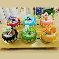 10pcs 10cm wedding Artificial cake mug-up flaky pastry circle rose small cake decoration