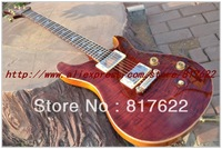 Wholesale - - OEM Musical instruments Newest Red stripe bird fret Custom Shop Electric Guitar free shipping
