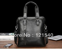 Hot sale 2013 Free Shipping FEGER Genuine Leather men shoulder Messenger Bag fashion business casual bag for man