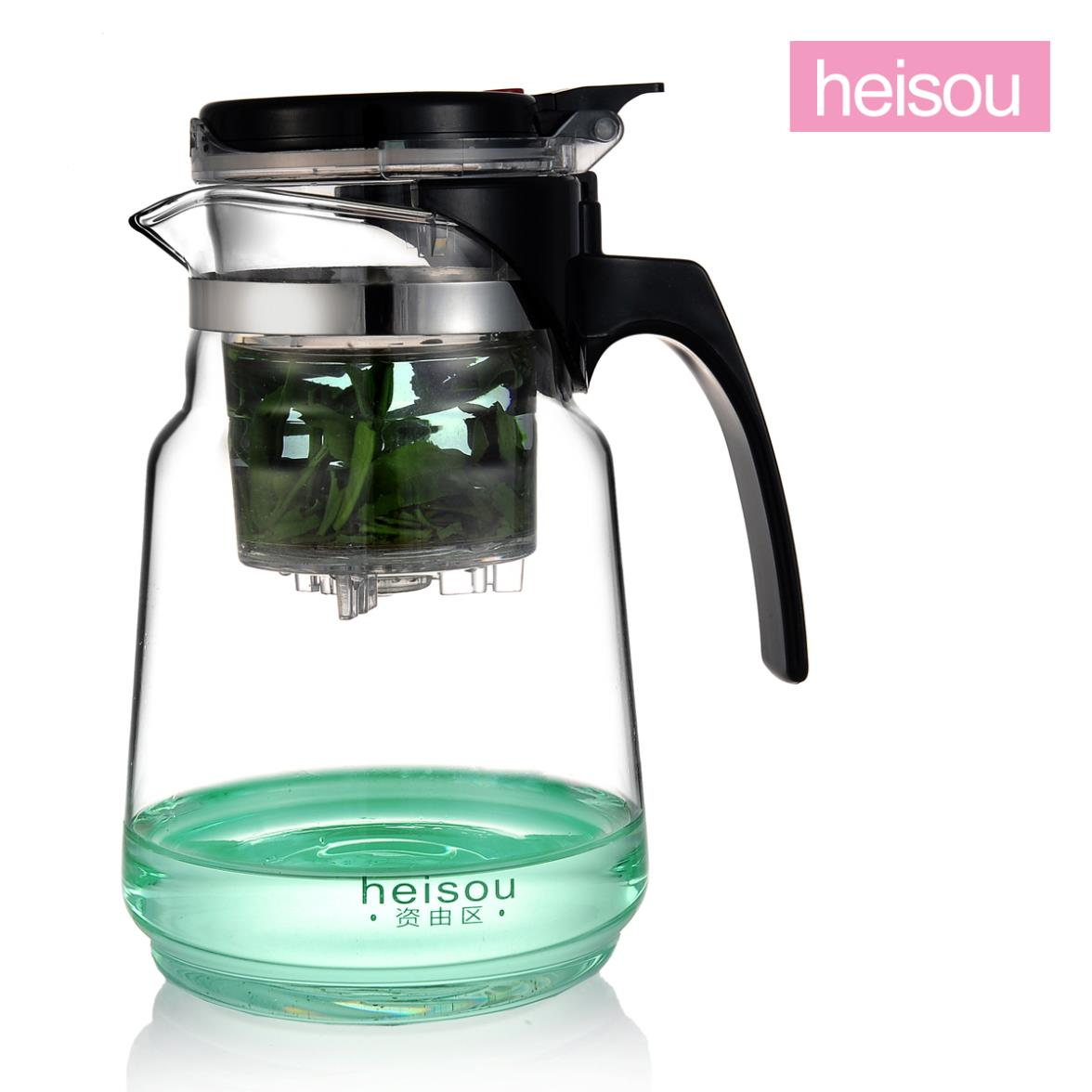 Heisou elegant cups quality goods heat-resistant glass tea set teapot filtering kung fu tea set KC157 in Taiwan(China (Mainland))