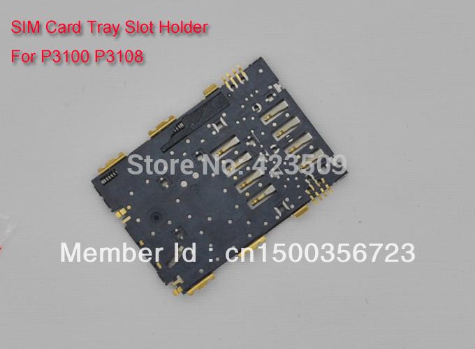 Low DHL Cost! 100pcs/lot SIM Card Tray Slot Holder For Samsung P3108 (Free shipping via post)(China (Mainland))
