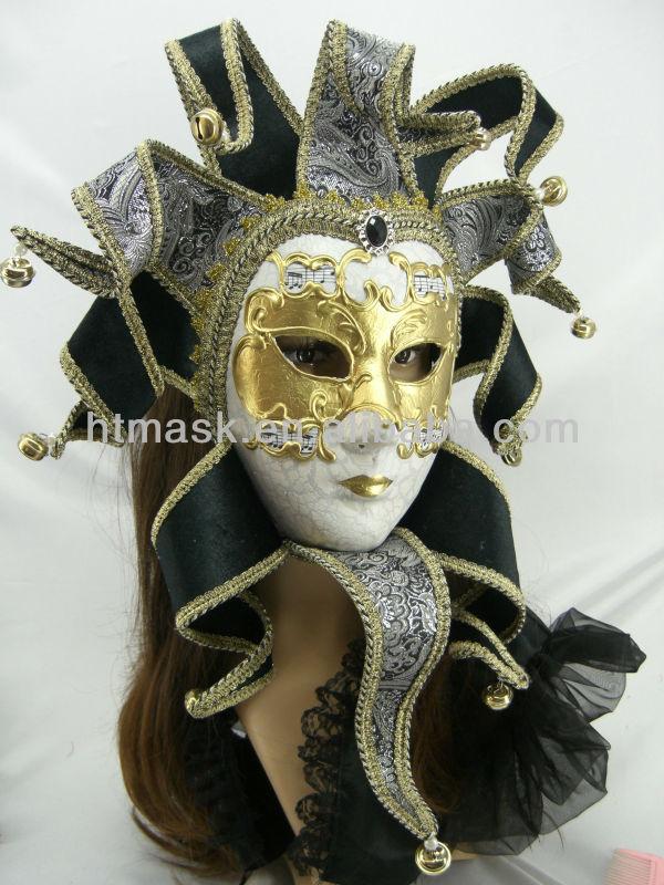 hot selling!! free shipping black venetian mask ,paper pulp mask,handmade painted sheet music mask(China (Mainland))