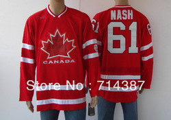 2010 canada olympic ice hockey jersey 61# NASH man&#39;s jersey(China (Mainland))