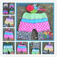 Cute Zebra Kid Shorts  New Arrival Pants with headbands for Children  many colors  1set=1 pant +1 headbnd 24pcs/lot