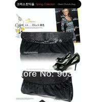 Fashion Women PU Leather Handbags Snake Pattern Clutch Bag Mini Shoulder Bag Portable Evening Bag Black Color