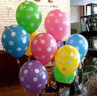 Candy color dot 12 print balloons wedding party balloon wedding supplies balloon free shipping Christmas party supply