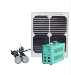 High brightness Portable Solar home lighting kit Mobile phone/fan/radio Charger 10W(China (Mainland))