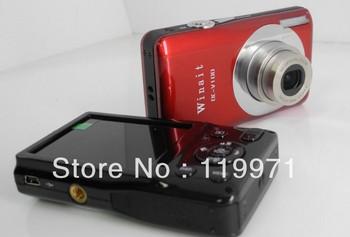"15 MP MAX, 9Mp CMOS sensor, 2.7"" TFT LCD digital camera DC-100with 5X optical zoom, 4x digital zoom, 4pcs/lot, free shipping"