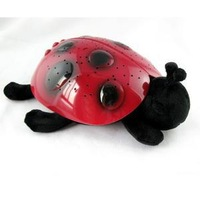 free shipping The starry sky projection ladybug toys all over the sky star light sleep