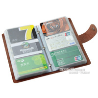 Genuine leather large capacity 90 multi card case card holder