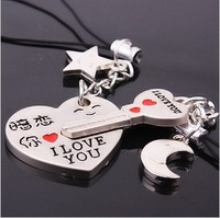Free Shipping Min.order is $15 (mix order) Moblie Chain Key Chain Lovers phone chain has a crush on you