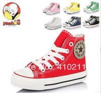 Free Shipping Special shoes zipper on side lace-up children's shoes High-top canvas shoes  girl canvas shoes boy canvas shoes