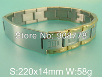Free shipping wholesale stainless steel jewelry fashion rubber bracelets B8D3006
