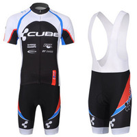 2013 CUBE team cycling jersey/cycling wear/cycling clothing shorts bib suit-CUBE-2A Free shipping