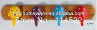 new design colored fish ceramic hooks kids cartoon coat rack clothes hanger towel hook wholesale & retail 18pcs/lot YJ4051