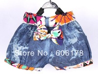 2013 summer new fashion Children&#39;s cowboy shorts  girls shorts 4pcs/LOT