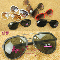 Free shipping All-match fashion female sunglasses black sunglasses metal rack male sunglasses 28319 lovers design 1 PC