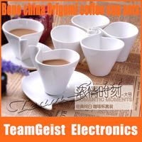 2sets/lot Fashion fancy Bone meal bone china tea/coffee cup set 180ml white ceramic nescafe coffee mugs Free Shipping