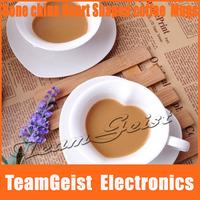 6sets/lot Fashion fancy Heart Shaped Bone meal bone china tea/coffee cup set coffee mugs with exquisite Gift Box Free Shipping