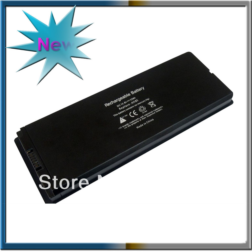 Black 55Wh Laptop Battery For Apple A1185 MA566 MA566FE/A MA566G/A MA566J/A MacBook 13&quot; A1181 MA472 MA701(China (Mainland))