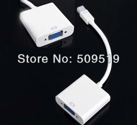 1pcs Mini DisplayPort Display Port DP To VGA Adapter Cable for Apple MacBook Air Pro iMac Mac Mini Adapter Cable White #55(China (Mainland))