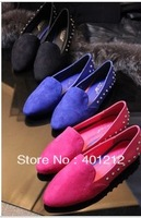 free shipping  new arrival fashion star fashion vintage personality metal rivet flat heel single shoes casual shoes