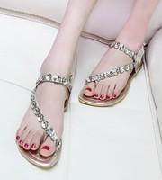 Women Sandals 2013 Summer Beach Flip Flops Lady Slippers Women Sandals Flip Flops Diamond Cross Flat Shoes Women Free Shipping
