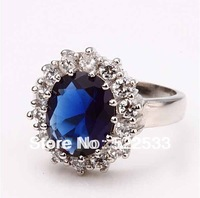 Italina Accessories British Princess kate Engagement Ring Sapphire index finger ring wedding bride female jewelry  RR40