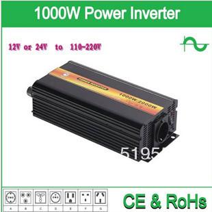 DHL Or Fedex 1000W Pure Sine Wave Inverter  2000w peak(DC12v,24v to AC110v,220)  For Wind and solar energy High Qualit