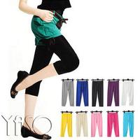 2014 women's summer legging elastic slim multicolour viscose capris candy color female