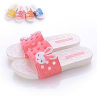 Cartoon rabbit bathroom sandals women's candy color slippers at home slip-resistant platform slippers