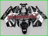 K55 ABS White Black Fairing Kit For Ninja ZX12R 02-05 ZX-12R 2002-2005 ZX 12R 02 03 04 05 2002 2005