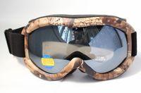 Free Shipping Double PC Black Lens Polarized Anti Fog Windproof Hunting Camouflage Ski Goggles UV brand Snow Glasses Men Women