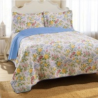 Laura ashley quality 100%cotton water wash quilting Europe American hotsale quilt bed cover bed sheets wholesale drop shipping
