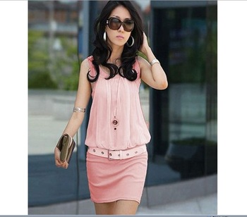 Big Discount  Lady's Dress Brand Dress Summer Women's Mini Dress 4 colors