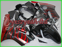 K40 Red Flaming Black Fairing Kit for KAWASAKI ZX12R 00-01 ZX-12R 2000-2001 ZX 12R 00 01 2000 2001