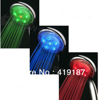 Best seller! Cheap hot sale new style high quality RGB LED flash portable shower nozzle free shipping