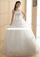 325 Free shipping new women fashion sexy sequines bow princess style strapless lace up ball gown wedding dresses