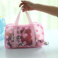 Promotion!!! PVC waterproof wash bag cosmetic bag makeup bag handbag free shipping