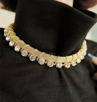 Fashion Luxury Women&#39;s Choker Necklace Vintage Golden And Black Jewelry Free Shipping MS-11