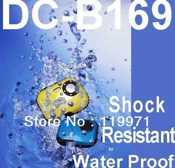 "Fashion Waterproof Cheap Digital Camera,underwater camera,DC-B169,5.0 Mega pixel MAX.+1.8"" TFT LCD +8XDigital Zoom+Free shipping"