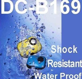Free shipping waterproof cheap Mini waterproof digital still camera 3.0 MP CMOS under water camera,4PCS/LOT