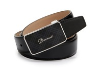 Brand 2013 New arrivals genuine leather 100% cowskin men belts high quality fashion black men buckle belt free shipping