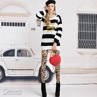 Special offer! Free shipping! 2013 spring leopard print slim tight legging