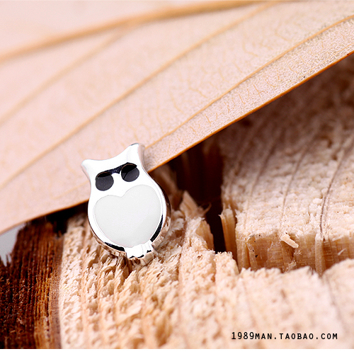 Girls no pierced earrings magnet stud earring magnet stud earring owl(China (Mainland))