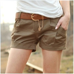 2013 New arrivals ladies leisure shorts plus size women shorts candy female overalls hot fashion pants free shipping(China (Mainland))