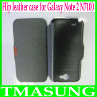 2013 Free shipping Luxury Wallet   flip leather case Cover for samsung Galaxy Note 2 ii N7100 Wholesale