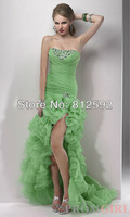 Free Shipping!! Perfect Sweetheart Organza Beading Prom Dress Evening Gown Pageant Dress Custom Size/Color Wholesale/Retail